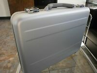 "TZ AC 66 S ALUMINUM 3"" BRIEFCASE ANODIZED COMPUTER EXECUTIVE ATTACHE # 2 blem'd"
