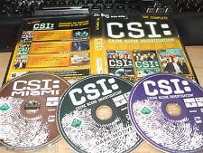 CSI C.S.I. completa 3 in 1 DARK motives CSI Miami PC ANTOLOGIA in buonissima condizione