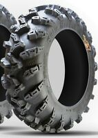 Set of (2) GBC 25-10-12 Grim Reaper 8 ply pr 8-ply Radial ATV UTV Tires 25x10-12