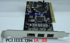 PCI 32bit 1394B+1394A adapter PCI TO 1394 2B+1A  Card Firewire 800/400 Ti chip