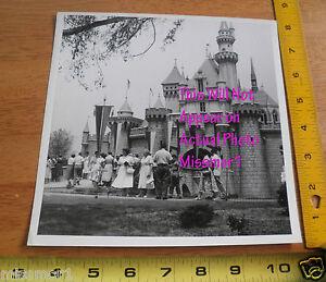 Disneyland 1950's Sleeping Beauty's Castle ORIGINAL press 8x8 photo RARE