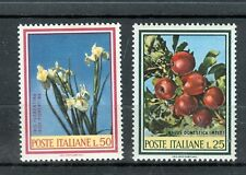 FIORI & FRUTTI - FLOWERS & FRUITS ITALY 1967 Common Stamps