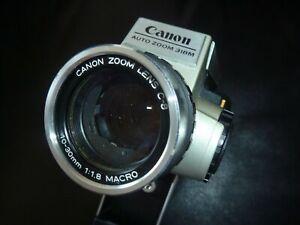 TESTED Camera Vintage Canon AUTO Zoom 318M  Super 8 Silver