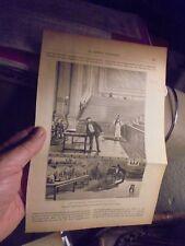 Gravure Première épreuve Ancien Téléphone Graham Bell La Science Illustrée 1888