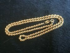 """9ct gold rope design necklace 17.5""""                                        D7007"""