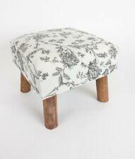 Heaven Sends Floral Pattern Footstool Foot Stool Wood Wooden Legs Sitting Room