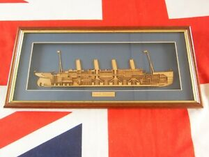 R.M.S.TITANIC 3D WOODEN CUTAWAY FRAMED AND GLAZED
