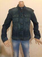 Giubbino donna GAS TAGLIA size L jacket woman camicia jeans maglia giacca P 1600