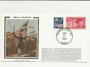 US Army Comm/FDC -  Civil War - Slavery Abolished - 1990 (092)Z