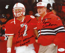 SCOTT FROST TOM OSBORNE NEBRASKA CORNHUSKERS SIGNED 8x10 PHOTO Reprint
