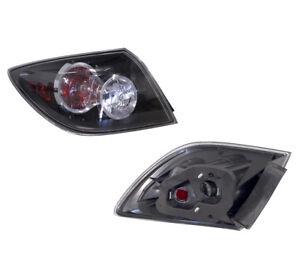 Mazda 3 HATCHBACK BK 01/2004-12/2008 BLACK/CLEAR/RED Tail Light (Left)