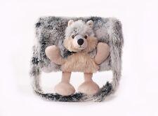 Wolf - kuscheliger Kinder-Muff, Handmuff + Tasche, hell grau, Handschuhe