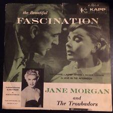 "RARE~JANE MORGAN~FASCINATION (7"" 45RPM Kapp 191) VG+ w/ Picture Sleeve, L@@K!"