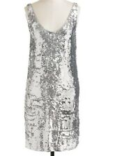NWT J. CREW $695 CATE SEQUIN PARTY DRESS SZ 12 SILVER COCKTAIL 08444