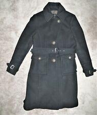 Black Wool Coat knee Length Women's 12