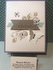 Handmade Card FRIEND  ~The Paper Hen