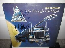DEF LEPPARD SIGNED ON THROUGH THE NIGHT ALBUM AUTOGRAPH ELLIOTT ALLEN LP PROOF