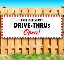 Drive-Thru Open Advertising Vinyl Banner Flag Sign Many Sizes Usa Restaurant