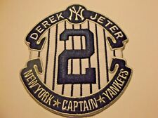 """Derek Jeter New York Yankees Captain Embroidered Patch~3 7/8"""" x 3 1/2""""~FREE Mail"""