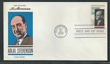 # 1275 ADLAI STEVENSON, GOVERNOR & AMBASSADOR 1965 Fluegel First Day Cover