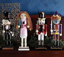 "Burton and Burton Christmas Character Nutcracker Figurines, Set of 4, 10"""