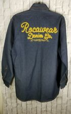 Roca Wear Denim Jean Shirt Jacket Sz XL Mens Casual Patchwork Nice