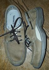 Timberland Brown Suede Leather Loafer Shoes Men Size 10