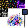 Solar Powered 50 LED String Lights Cherry Blossoms Lights Courtyard Lamp String