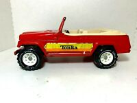 Vintage 1970's   Red  Tonka  Jeep Convertible    Pressed Steel