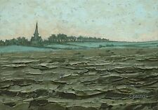 Wentworth Ploughed Field ORIGINAL LANDSCAPE PAINTING Steve Greaves Art Kyffin