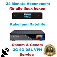 Dreambox oscam  Gigablue & Vu+ Sat & Kabel VPN ABO 24 Monate nur 19,95€