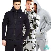 Mens NIKE Tracksuit Set Fleece Zip Hoodie Joggers Grey Camo Black Separate