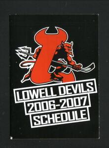 Lowell Devils--2006-07 Pocket Schedule--Pepsi--AHL