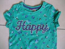 NEXT Shirt 110 kurzarm grün blau Blümchen Sommer Mädchen Glitzer WIE NEU