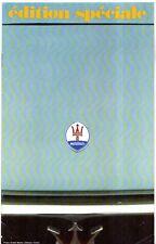 Citroen Double Chevron Magazine Maserati Special Edition 1970 English & French