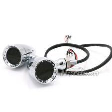 LED Multifunktion Rücklicht Bremslicht Blinker Chrom Motorrad universal Custom