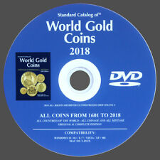 CATALOG WORLD GOLD COINS 2018  FROM 1601 TO 2018 - NEW ORIGINAL ON DVD