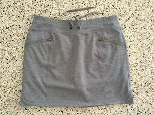 Tangerine Skort Skirt/Shorts Drawstring Zip-Pockets Gray Medium Great Worn Twice