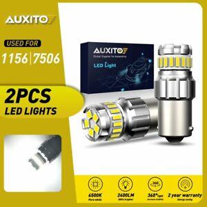 2x White 1156 23-SMD LED Backup Reverse Interior Light Bulbs 1073 6500K 12V