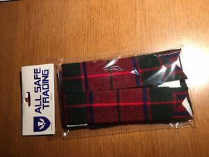 New SCOTISH ROSE Tartan Kilt Flashes/Highland Kilt Hose Flashes (Pair)