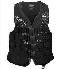 O 'Neill bouyancy aiuto SUPERLITE 50N Vest Black Smoke Moto d'Acqua Wakeboard TAGLIA XLARGE