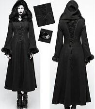 Manteau long brodé gothique baroque hiver chic capuche fourure corset PunkRave