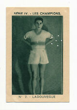 1934 Milliat Les Champions JULES LADOUMEGUE (BANNED) Olympic Track Card #2