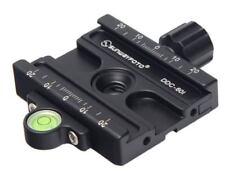 """SUNWAYFOTO DDC-60i 60 mm morsetto compatibile Arca Swiss/testa treppiede 1/4"""" 3/8"""" NUOVI"""