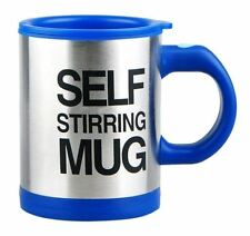 Blue Self Stirring Mug Coffee Cup Tea Auto Mixer Drink Insulate Stainless 400ml