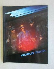 1986 ZZ TOP AFTERBURNER WORLD TOUR PROGRAM BILLY GIBBONS DUSTY HILL FRANK BEARD