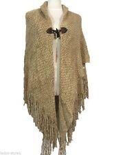 Damen-Pullover & -Strickware im Ponchos-Stil mit V-Ausschnitt aus Viskose