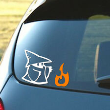 Black Mage with Fire - Final Fantasy - Car Window Laptop Vinyl Decal Sticker