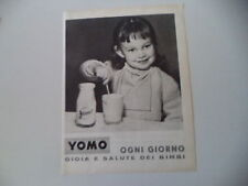 advertising Pubblicità 1961 YOGURT YOMO