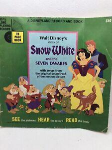 Walt Disney's Snow White Disneyland BOOK ONLY VTG 1971 USA